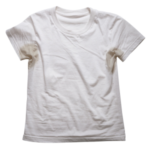How to get rid of those pesky deodorant stains on shirts for Sweat stains on shirt