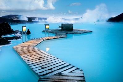 Reykjavik's Blue Geothermal Lagoon